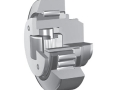 Adjustable combined bearings with axial support