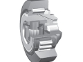 Combined bearings adjustable by screw for steel sections