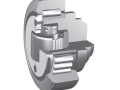 Combined bearings adjustable from outside for steel section