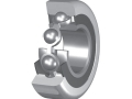 Single row ball bearings with cage for inclined mounting