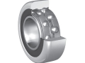 Double row ball bearings with cage for inclined mounting