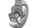 Combined bearing for precision inclined steel section